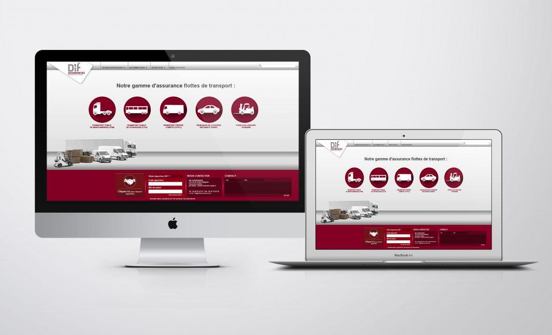 site internet dif assurance - NJ Création