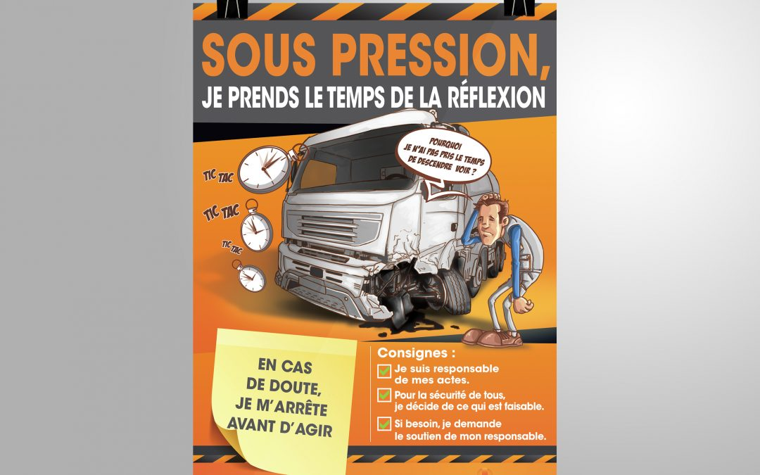 graphiste freelance avignon – Affiche sécuriter – Groupe BERTO
