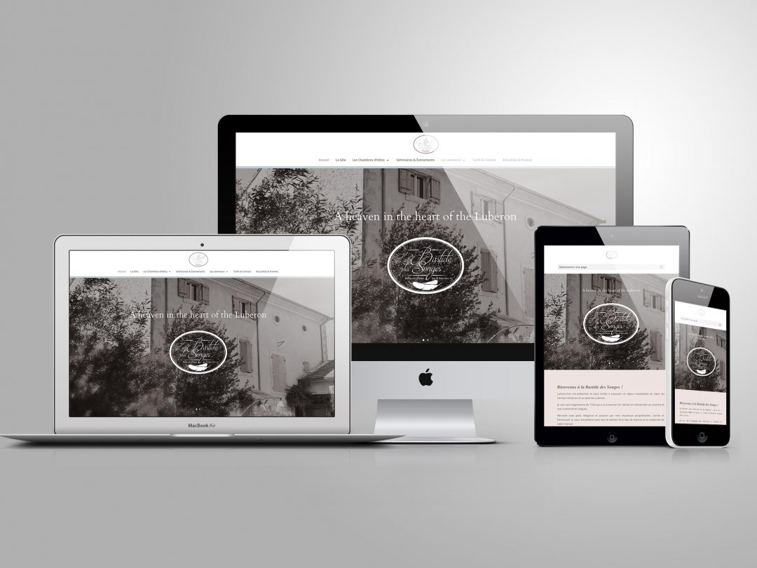 Webdesign – Bastide des songes