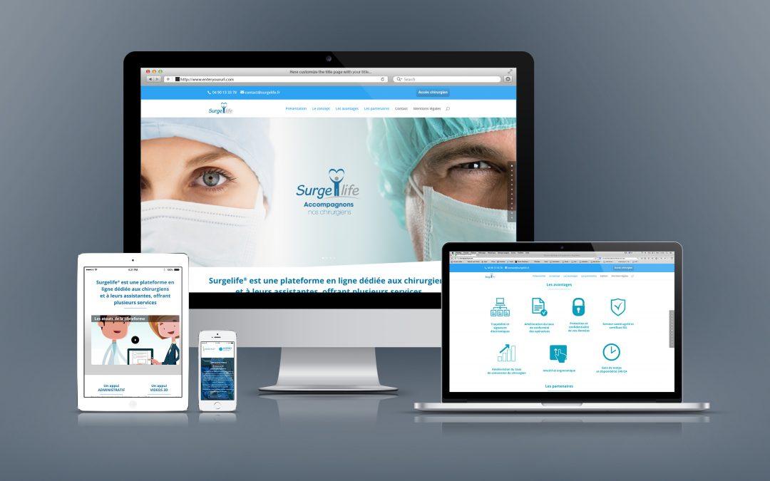Webdesign – Surgelife – en sous-traitance Graphito communication