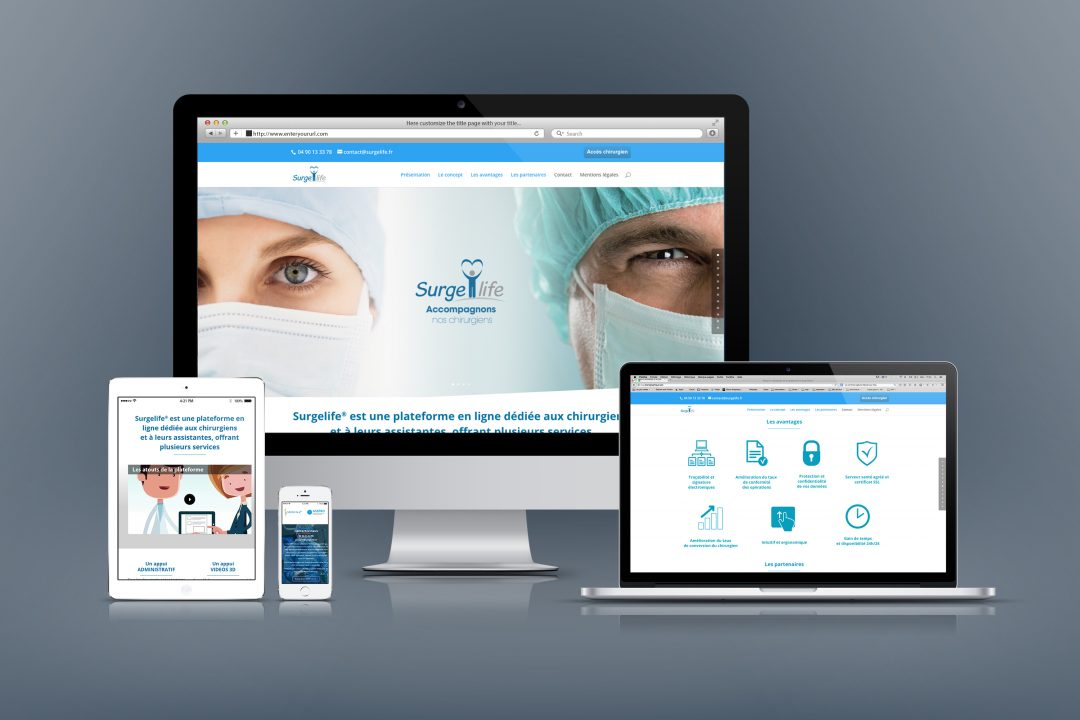 Webdesign du site Surgelife