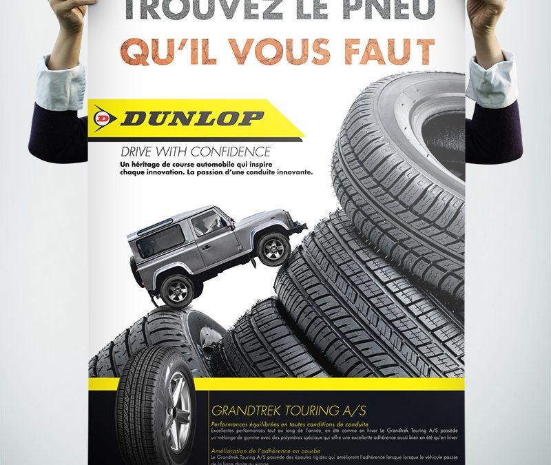 NJ création-Affiche Dunlop