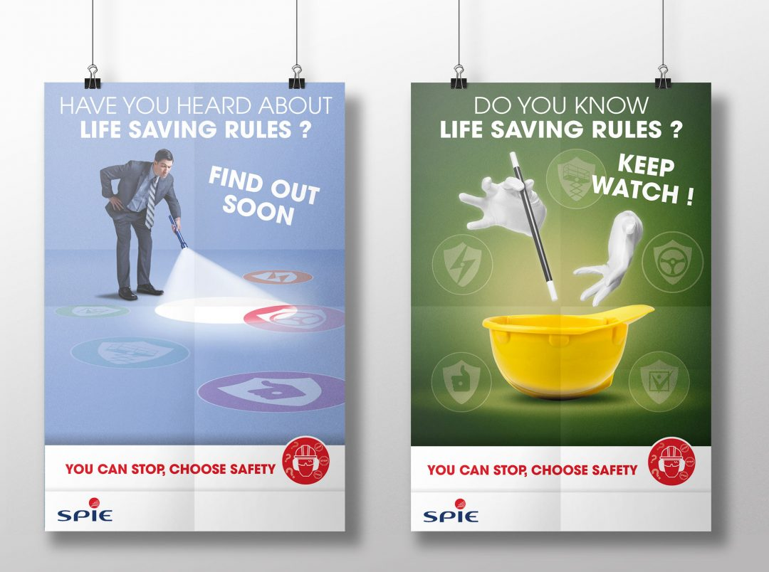"""Création affiche SPIE """"you can stop, chosse safety"""""""