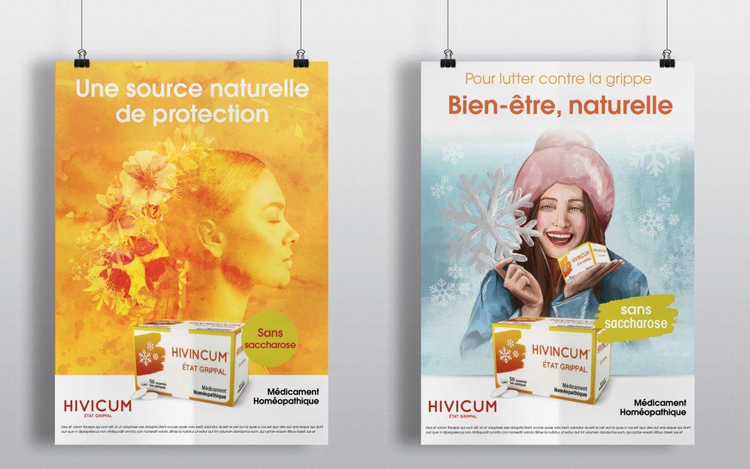 Affiches HIVICUM – Création pour l'agence Paris le sud
